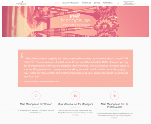 Miss Menopause - Website Home Page Image