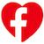 Facebook Heart Icon